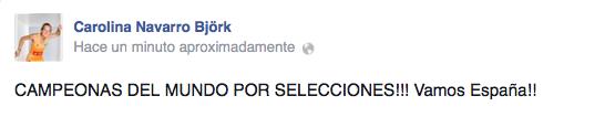 Carolina Navarro celebra Mundial de Padel 2014
