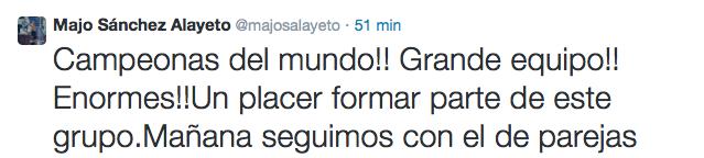 Majo Sánchez Alayeto campeona Mundial Padel 2014