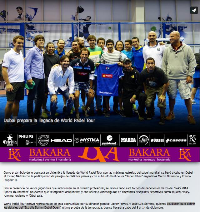 Noticia en la web del WPT sobre el Torneo NAS14.