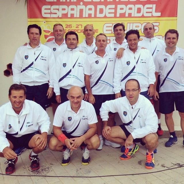 equipo penacanada campeonato espana padel veteranos 2 categoria 2014