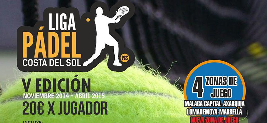 La Liga de Padel Costa del Sol 2014-2015, a punto para iniciar su quinta edición