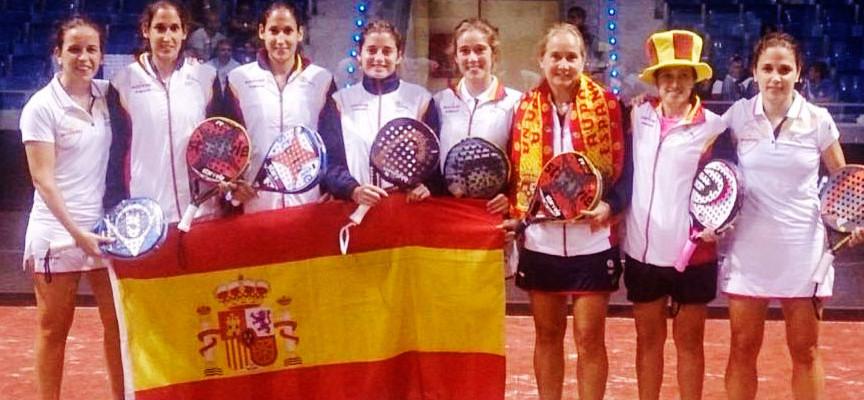 La selección femenina de España, campeona del Mundial de Padel 2014