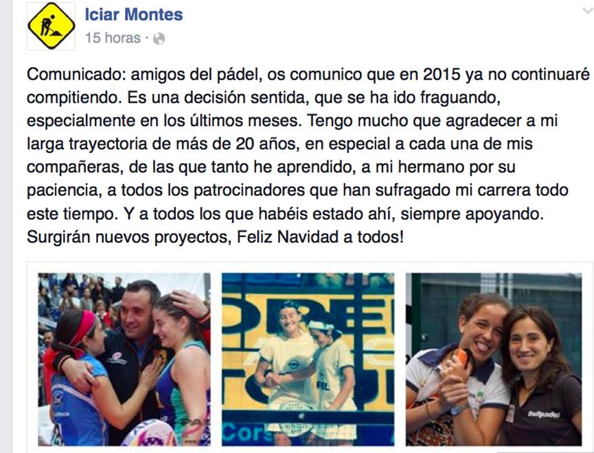 Retirada de Iciar Montes 2014
