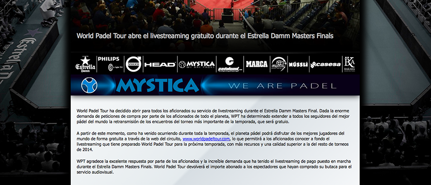web World Padel Tour anuncia rectificacion pago retransmision Master