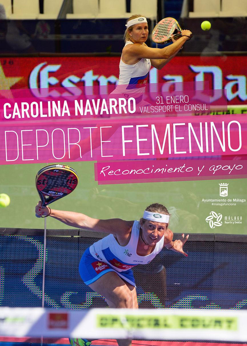 cartel-jornada-reconocimiento-y-apoyo-al-deporte-femenino-carolina-navarro-vals-sport-consul-enero-2015