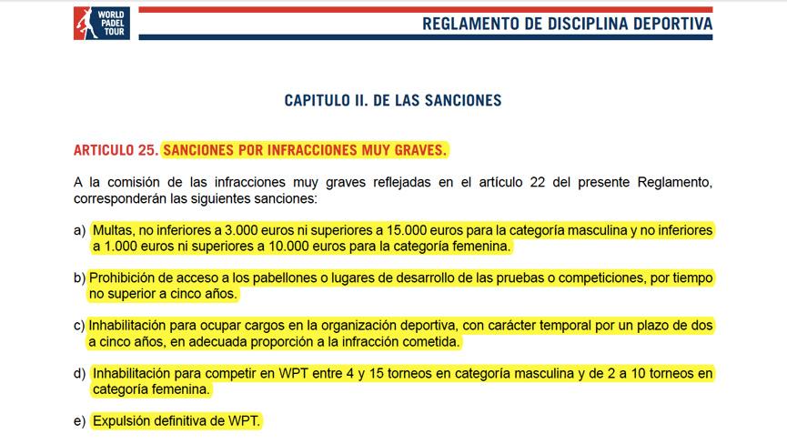 Reglamento-Disciplina-WPT-2-Sanciones-infracciones-muy-graves
