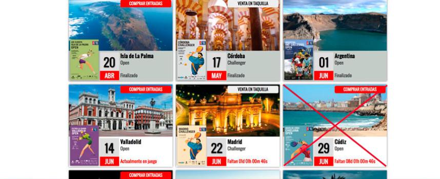 World Padel Tour anula el Open de Chiclana una semana antes de su inicio