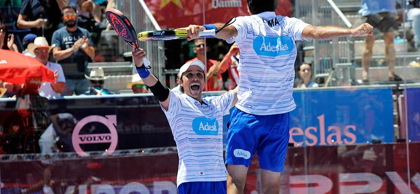 Fernando Belasteguin y Pablo Lima decantan los detalles para sumar su segundo título en el Estrella Damm Valladolid Open 2015