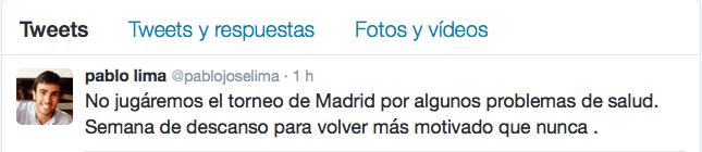 Pablo Lima anunció su ausencia en WPT Madrid.