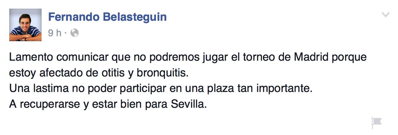 Belasteguin y Lima, baja en Estrella Damm Madrid Open 2015.