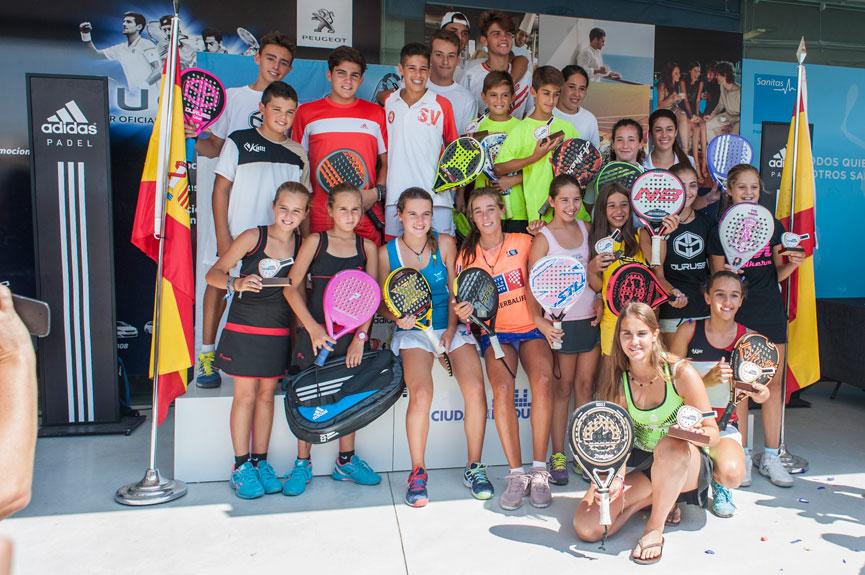 campeones-y-campeonas-campeonato-espana-padel-menores-2015