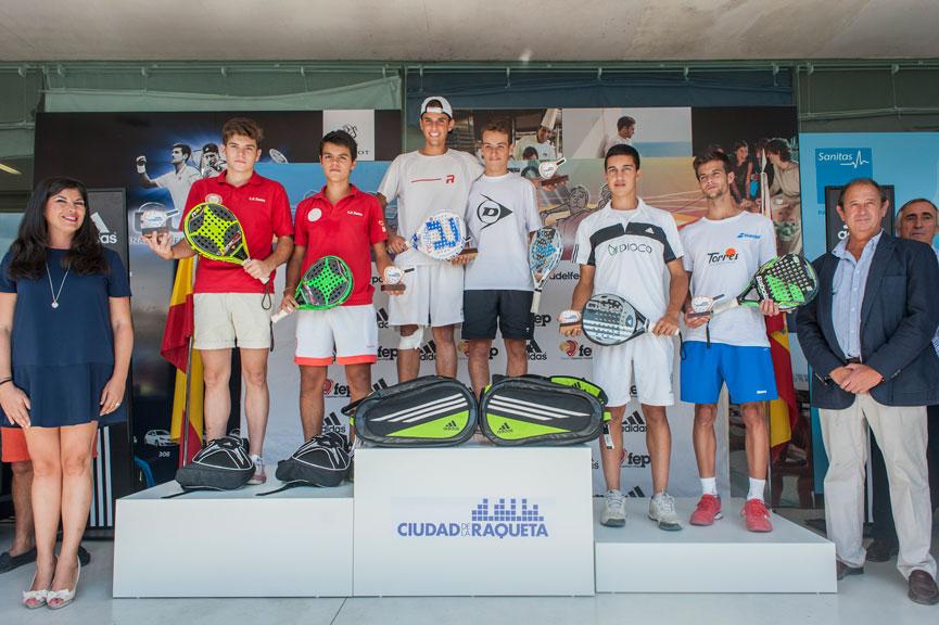 campeones-y-subcampeones-junior-masculino-campeonato-espana-padel-menores-2015