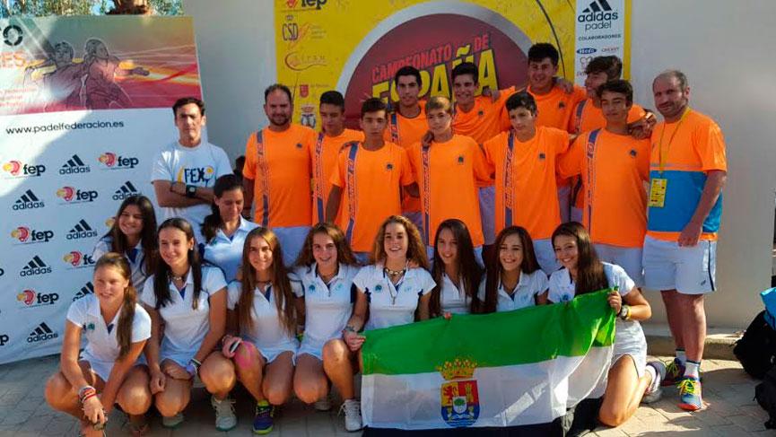 extremadura-campeonato-espana-padel-selecciones-autonomicas-menores-2015