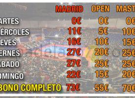 Las entradas del Estrella Damm Madrid Open, más caras que las de un Master