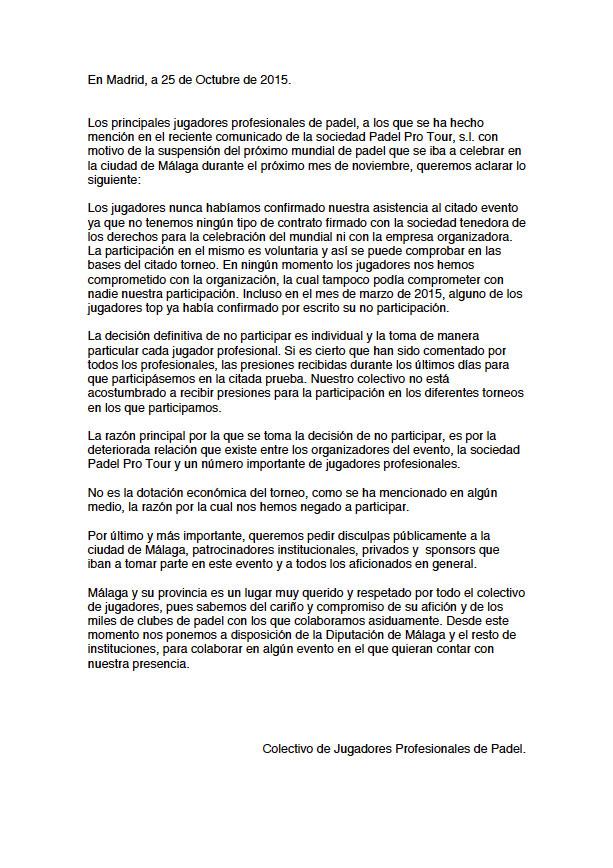 comunicado-jugadores-suspension-mundial-padel-2015