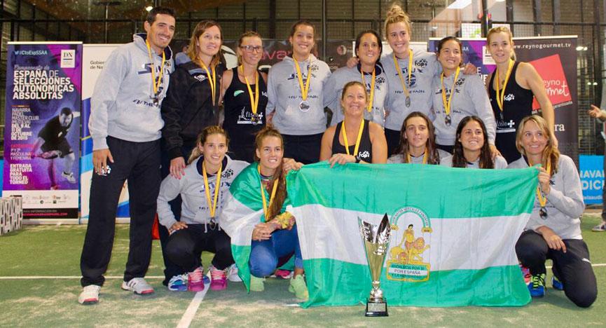 subcampeonas-equipo-andalucia-campeonato-espana-padel-absoluto-selecciones-autonomicas-2015