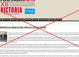 Suspenden el Mundial de Padel 2015 en Málaga a dos semanas de su inicio