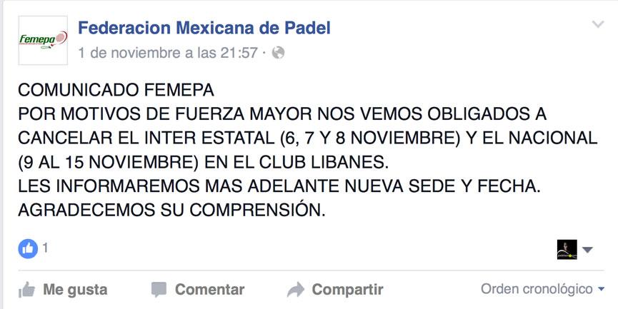 cancelacion-pruebas-federacion-mexicana-padel-2015