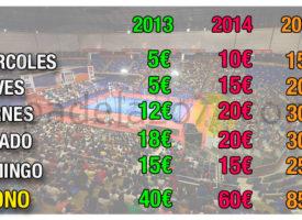 World Padel Tour ha duplicado el precio de las entradas del Master Final desde 2013
