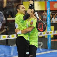 Fernando Belasteguin y Pablo Lima se juegan el alma para ganar la final del Keler Euskadi Open 2015