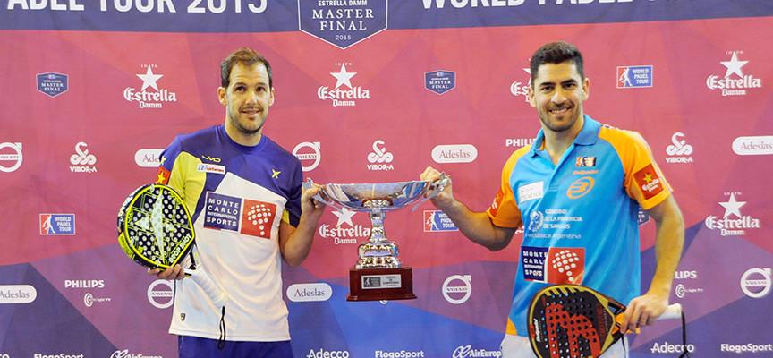 Juan Martín y Maxi Sánchez reaccionan para aplacar la rebelión de Moyano y Gabriel en el Master Final 2015