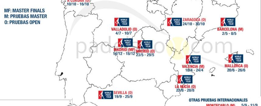 Calendario World Padel Tour 2016: el circuito vira hacia el norte