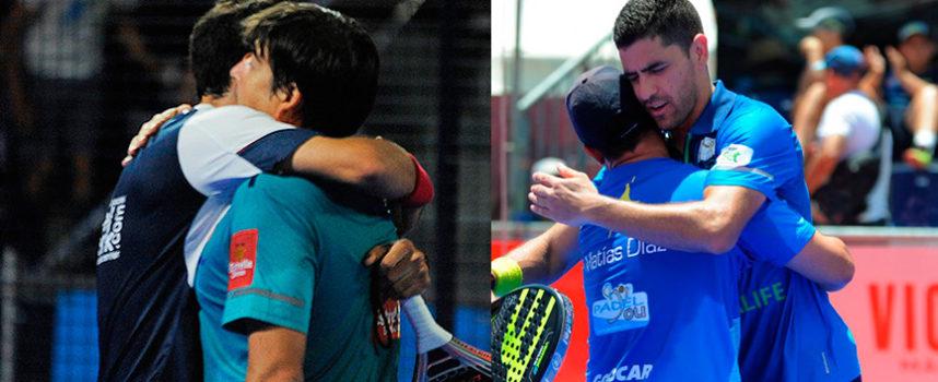 Semifinales World Padel Tour Mijas Open 2017: los favoritos remontan y Cristian y Stupa cumplen