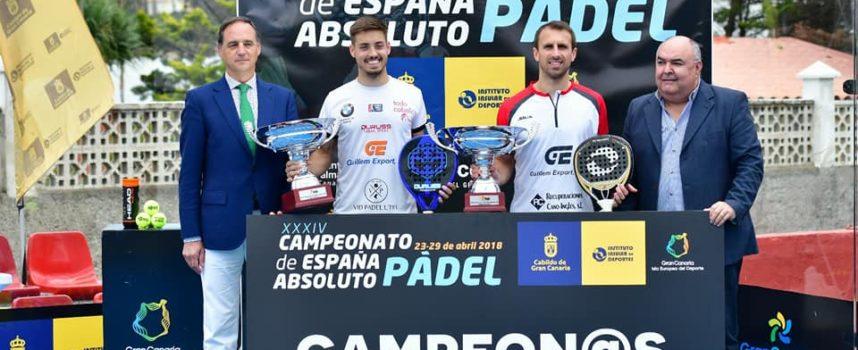 Víctor Ruiz y Josete Rico coronan su explosión con el título de campeones de España de Padel 2018