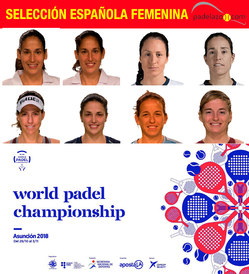 seleccion-espana-femenina-mundial-padel-paraguay-2018