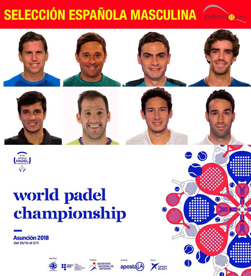 seleccion-espana-masculina-mundial-padel-paraguay-2018