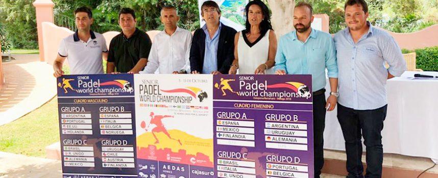 La Costa del Sol ultima los detalles del Mundial de Padel Senior 2018