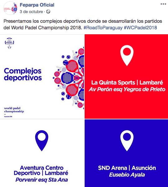 anuncio sedes mundial padel 2018