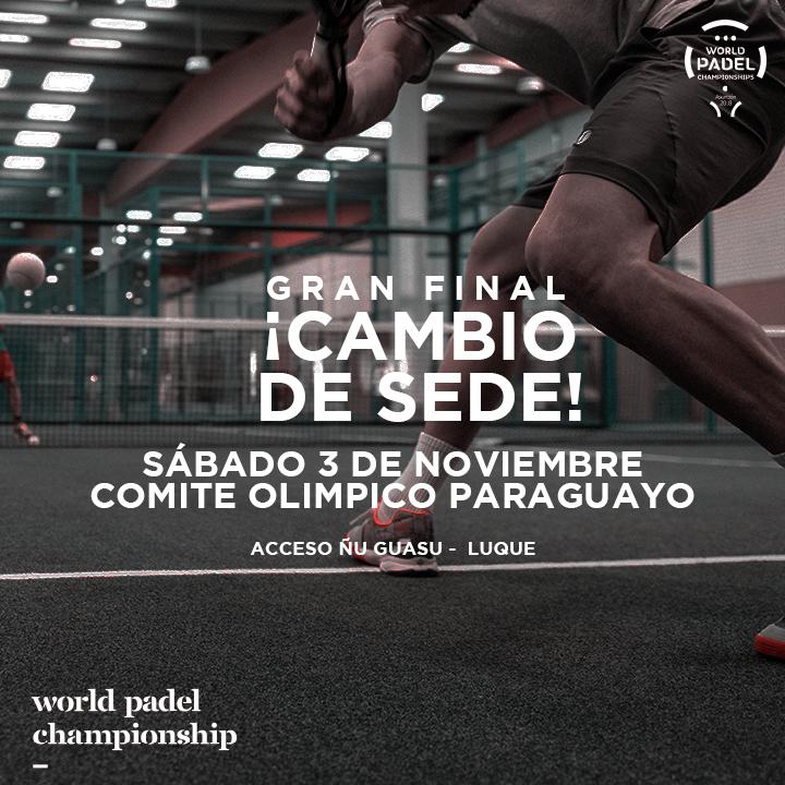 cambio sede mundial padel paraguay 2018