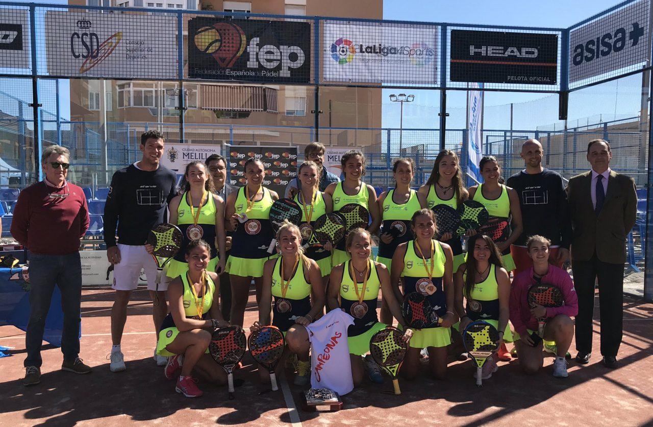 equipo femenino Damm Campeonato Espana Padel 1 categoria 2019