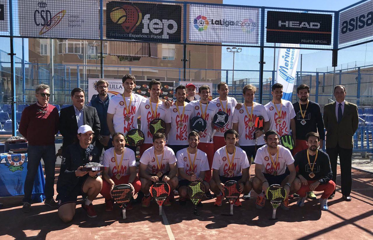 equipo masculino Damm Campeonato Espana Padel 1 categoria 2019