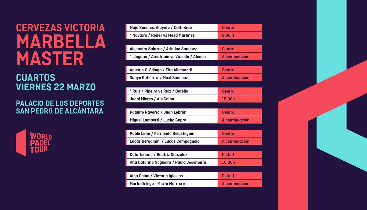 horarios cuartos final WPT Marbella Master 2019
