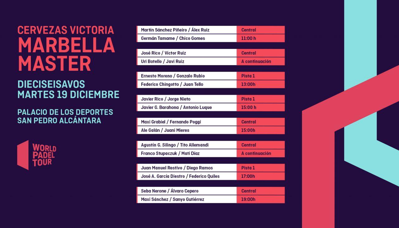 horarios-martes primera jornada cuadro masculino-cervezas-victoria-marbella-master