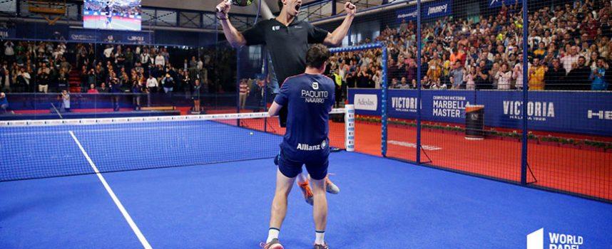 La apoteósica remontada de Juan Lebrón y Paquito Navarro enloquece a la grada en semifinales del Master de Marbella