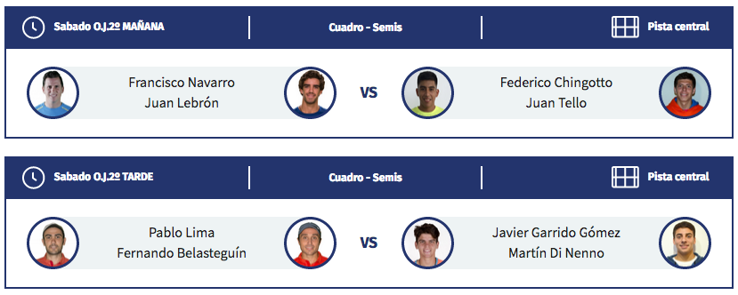 horarios semifinales masculinas wpt alicante open 2019
