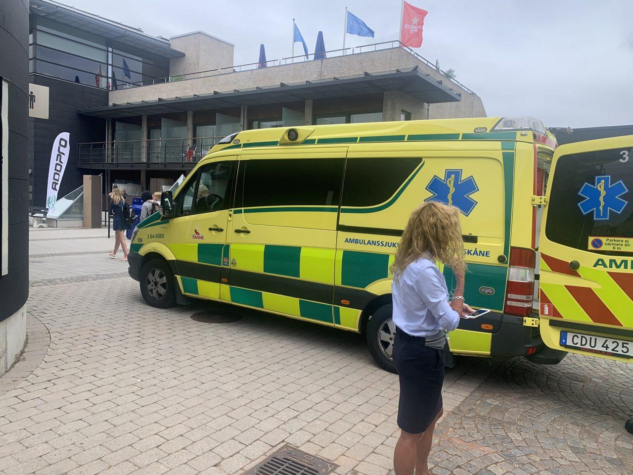 ambulancia mareo lucas campagnolo octavos masculinos-cuadro-masculino-swedish-open-2019