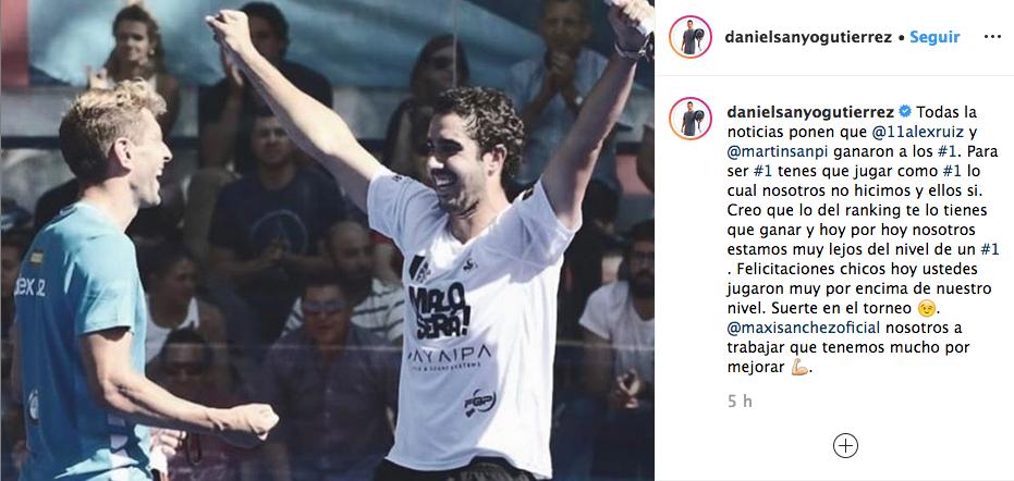 reaccion sanyo gutierrez derrota cuartos final valladolid master 2019