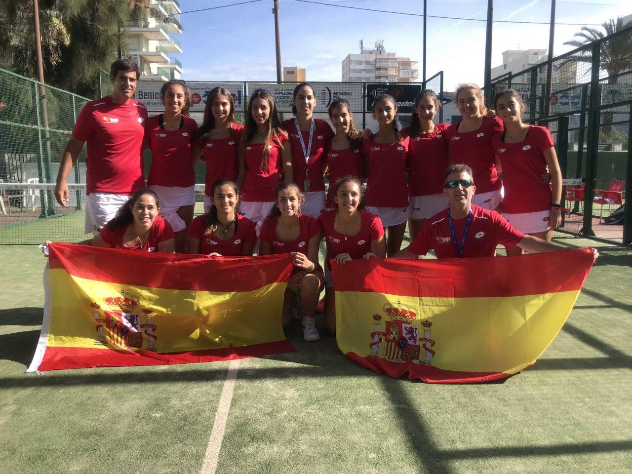 selecciones femenina espana mundial padel menores 2019