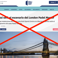 World Padel Tour cancela el Master de Londres 2019
