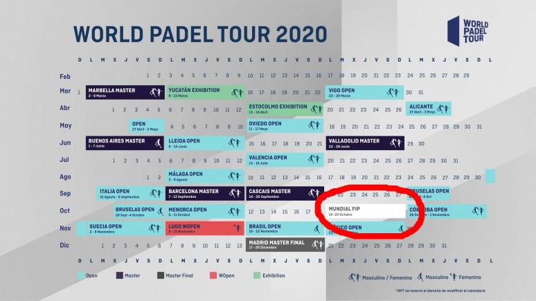 calendario inicial wpt 2020