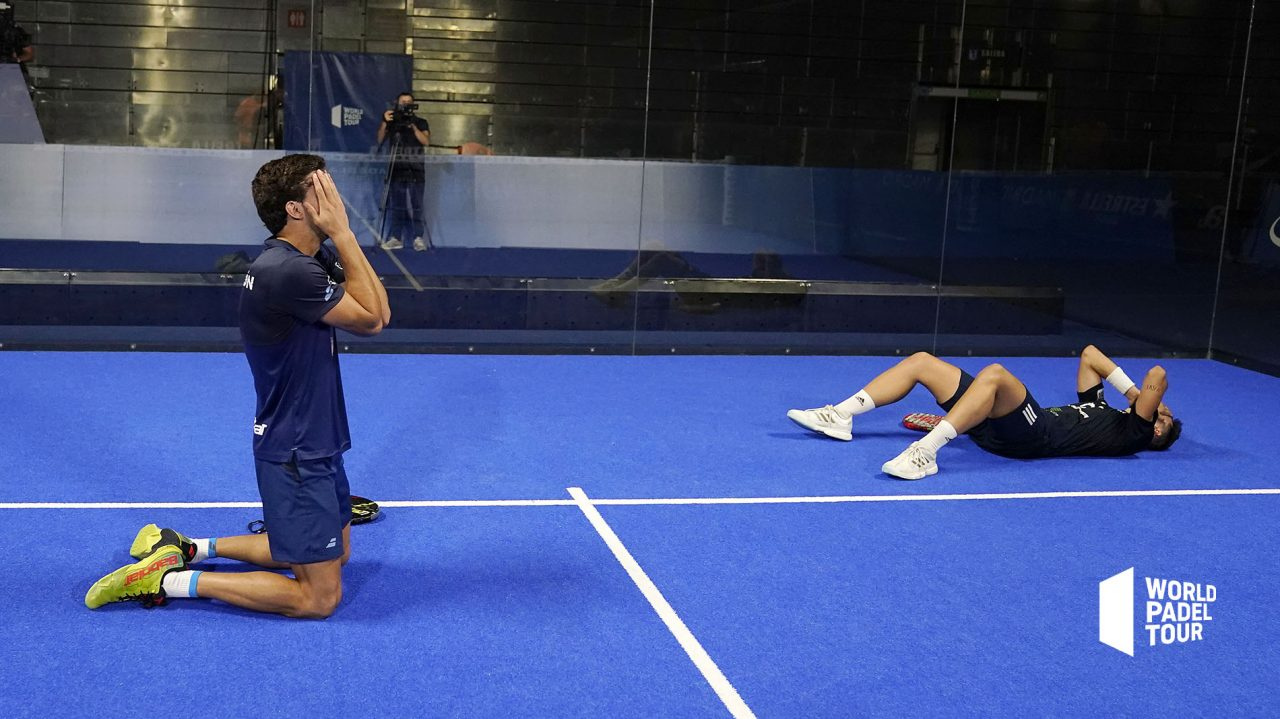 lebron galan celebracion triplete final masculina adeslas open 2020