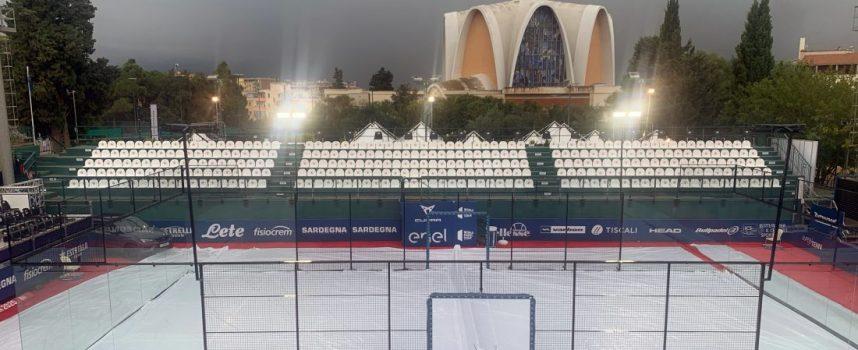 El temporal engulle al completo la jornada de octavos de World Padel Tour en Cerdeña